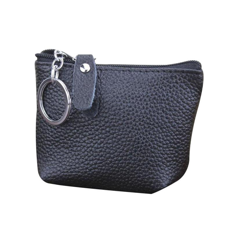 Small Coin Purse Basic Solid PU Leather Wallet Bag for Women Men Mini Zipper Clutch Purse Wallet Pouch Holder Change Purse Y3 bosca old leather coin purse