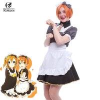 Free Shipping Japanese Anime Love Live Cosplay Hoshizora Rin Maid Costume