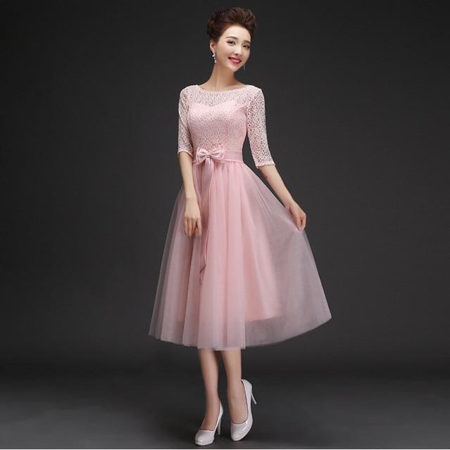 Pink puffy vestido formal corto elegante hermosos vestidos