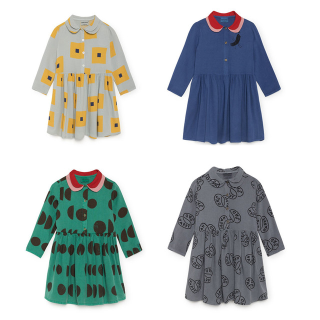 e1177365a43aa Aliexpress.com : Buy Kids Dresses For 2018 Autumn Girls Bobo Choses Print  Long Sleeve Dresses Baby Children Cotton New Fashion Clothes from Reliable  ...