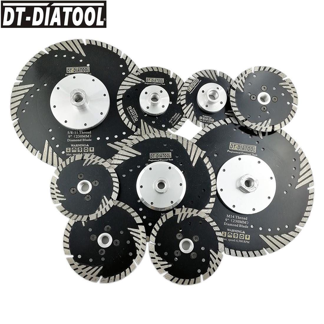 Disco de Moagem Disco de Corte Molhado para Pedra Dt-diatool Pces Diâmetro -9 Quente Pressionado Diamante Turbo Lâminas Seco ou Tijolo Concreto 2 4