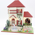 Handmade Doll House Furniture Miniatura Diy Doll Houses Miniature Dollhouse Wooden Toys For Children Grownups Birthday Gift 3836