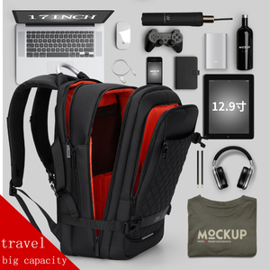 "Image 5 - Fenruien 남자 확장 가능한 배낭 대용량 다기능 15.6 ""노트북 배낭 방수 USB 충전 여행 배낭"