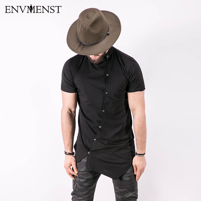 2017 Envmest Brand New Men's Assassin's Creed Street Stylish T-shirts For Men Oblique Button D Short Sleeve T-shirt Man Tee