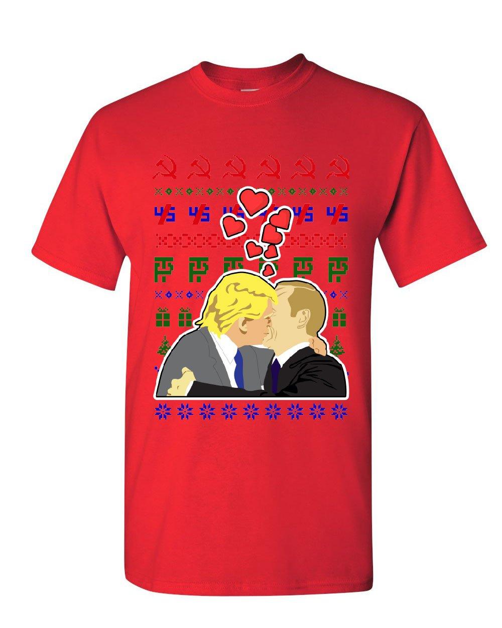 Trump Putin Lovers Ugly Sweater T Shirt USSR Russia Impeach