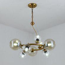 Modern Design Ring Chandelier Lustre Glass Lamp Living Room Dinning Foyer Decor Home Lighting E27 Light Fixtures 110-220V