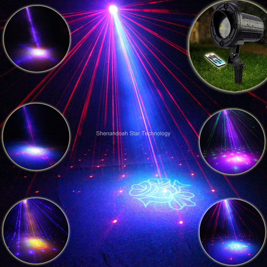 Outdoor Waterproof RGB Laser 24 Big Christmas Patterns Projector Holiday House Party Xmas Tree DJ Wall Garden Landscape Light 87 new generation of led outdoor firefly light projector waterproof display landscape square garden tree christmas laser lighting page 9 page 10