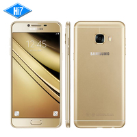 Оригинальный Samsung Galaxy C5 сотовый телефон Qualcomm Snapdragon Octa core 5.2 дюймов 4 ГБ Оперативная память 32 ГБ/64 ГБ встроенная память 2600 мАч 16MP 4 г LTE Android