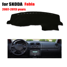 Car dashboard covers mat for SKODA Fabia 2007 to 2013 Left hand drive dashmat pad dash covers Instrument platform accessories