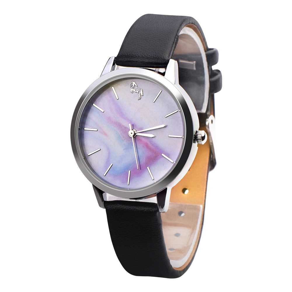 2018 Fashion Casual Cute Womens Girls Leather Band Analog Alloy Quartz Wrist Watch Bracelet Watch Ladies Relojes Hombre stylish bracelet zinc alloy band women s quartz analog wrist watch black 1 x 377