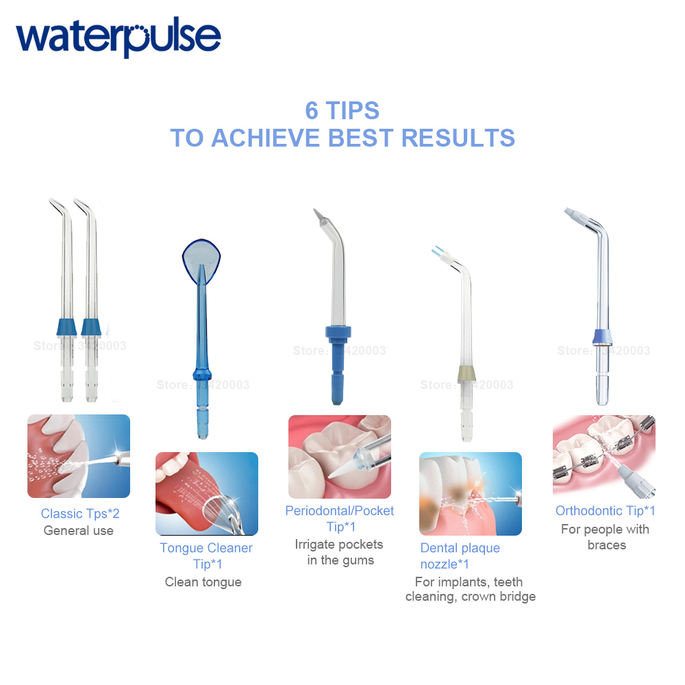Image 5 - Waterpulse V700P New Water Flosser 1000ml Capacity Oral Irrigator Traveler Portable Dental Oral Flosser With 6pcs Jet Tips-in Oral Irrigators from Home Appliances