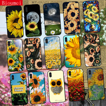 Mobile phone Case for iphone XR XS Max beautiful sunflower Soft TPU Cover Coque 7 8 5 5S 6 6S Plus X 38