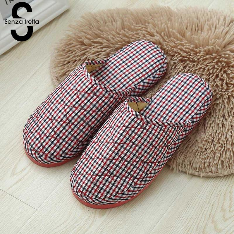 Senza Fretta Women Slippers Soft Indoor Floor Home Slippers Soft Bottom Winter Warm Lovers Women Shoes For Bedroom Buty Damskie senza fretta women shoes new summer pvc slippers couples women anti slip home slippers indoor soft bottom women slippers