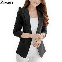 Zewo Women Blazers And Jackets 2017 Autumn Winter Cardigans Slim Fit Coats Long Sleeve Suit Jacket Plus Size Blaser Femenino