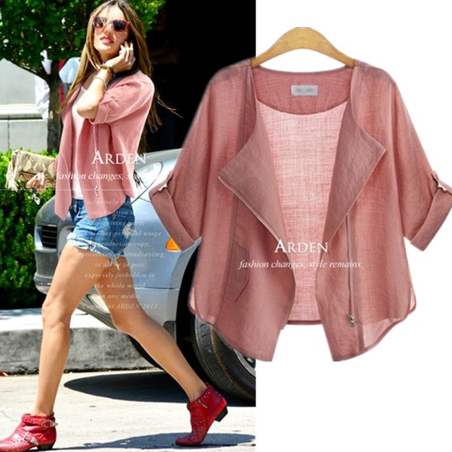 XL-5XL New  Brand Fashion Women Summer Autumn Sun-protective Clothing Blouse Blousa Casual Half Sleeve Cardigan Blouse