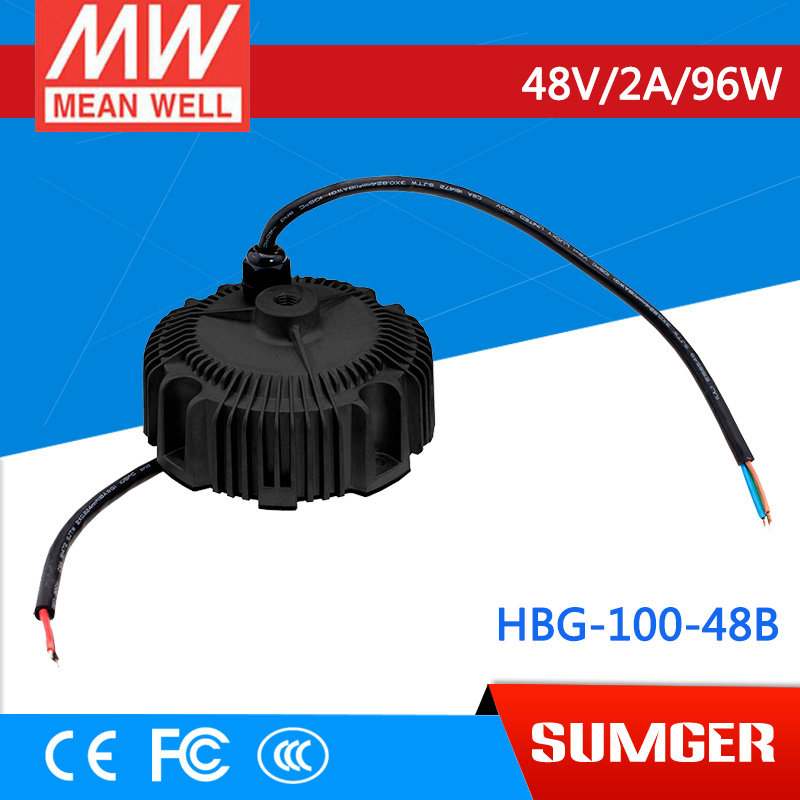 все цены на 1MEAN WELL original HBG-100-48B 48V 2A meanwell HBG-100 48V 96W Single Output LED Driver Power Supply онлайн