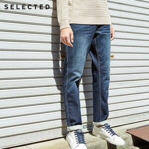 Image 3 - เลือกผู้ชายกางเกงยีนส์ฤดูใบไม้ร่วงฤดูหนาวผ้าฝ้ายเล็กน้อยยืดซีดจางตรงDenimกางเกงC