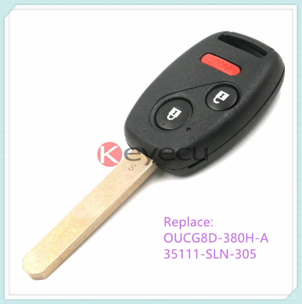 Keyless entry remote car key fob 313 8mhz 8e chip for 2007 honda fit sport oucg8d