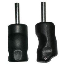 2pcs 25mm Black Plastic Fingerprint Grip Soft Silica Gel Tattoo Grip Tube Light Weight For Tattoo Machine Supply