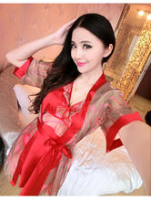 Free Shipping 2016 New summer style  Nightgown Nightdress pijama Ladies Sleepwear Women nightwear AW8304