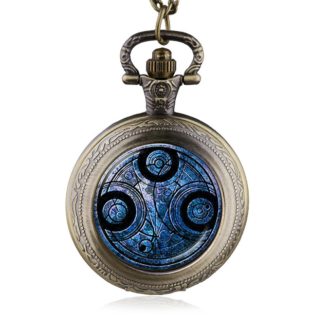 Antique Doctor Who quartz Necklace Pocket Watch Men Dr Who Pendant Chain Gifts For Men Women