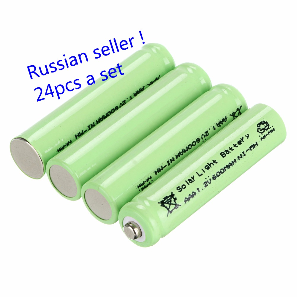 Russian seller !New high tech solar light battery 24 PCS AAA Garden Lights Solar Batteries Rechargeable 600mAh