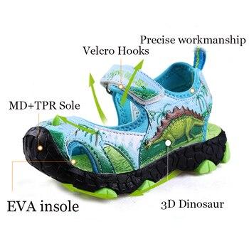 Dinoskulls/детские сандалии для мальчиков; обувь с единорогом; летние сандалии с динозаврами для мальчиков; детская пляжная обувь; Sandales Garcon; колл...