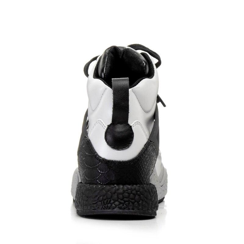 White Mujeres Planos Deporte Las Casuales De Chaussure Moda Blanco Zapatillas Arriba Prova Cuñas gray Alta Perfetto Cuero Nuevo Zapatos Genuino Encaje Hzw70xq1