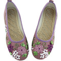Autumn New Vintage Retro Shoes Women Old Peking Flats Chinese Flower Embroidery Canvas Linen Shoes sapato feminino Size 34-40