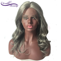 Lace Front Wig 130% Density Whole Grey Body Wave Preplucked Hairline 100% Brazilian Human Remy Hair Dream Beauty