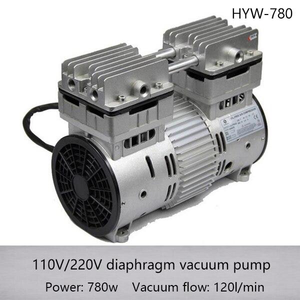 HYW 780 AC110 220v 780w AC Oilless High Pressure Piston Compressor Pump with 120L min air