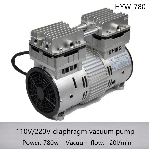 HYW-780 AC110/220v 780w AC Oilless High Pressure Piston Compressor Pump with 120L/min air flow