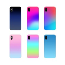 Gradient Changing Colors Accessories Phone Cases Covers For Samsung Galaxy S4 S5 MINI S6 S7 edge S8 S9 S10 Plus Note 3 4 5 8 9(China)