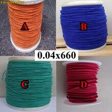 ChengHaoRan 1 m 0.04X660 fili 0.04*660 parti orange fili di seta coperto filo di seta naturale busta filo Litz