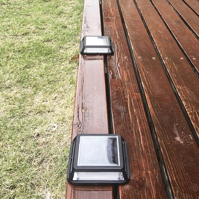 lampe exterieur solaire 12.4cm Solar Power Led Outdoor Path Step Driveway Light Garden  Yard Lamp Solar Floor Underground Led