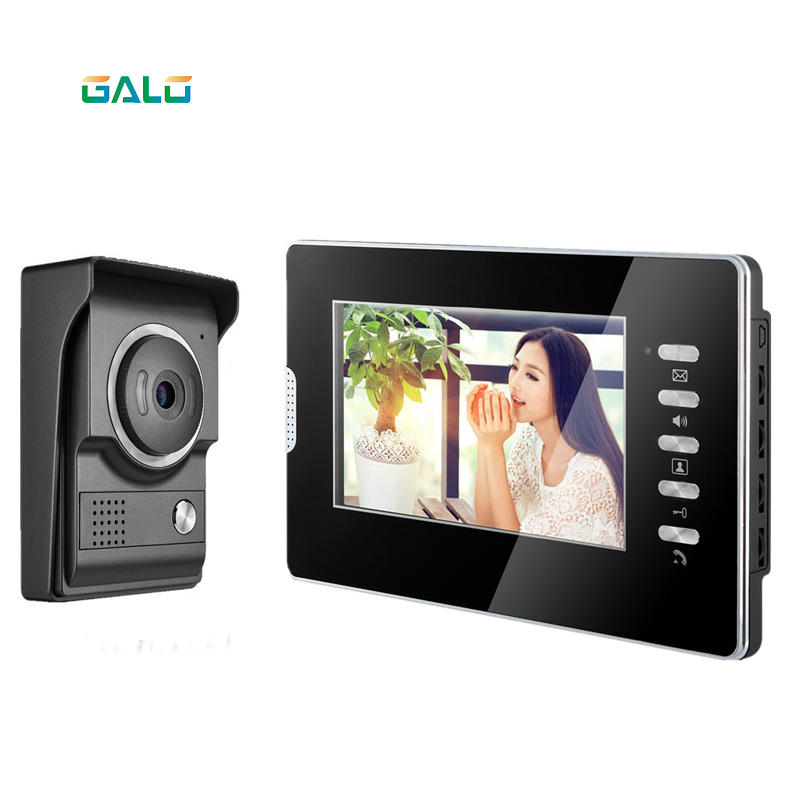 2019 New 4 Wired Villa Video Door Phone 7inch TFT LCD Acrylic Screen Night Vision Color Camera Home Security Intercom System