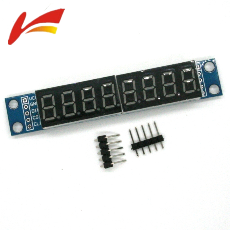 MAX7219 LED Dot Matrix 8-Digit Digital Tube Display Control Module