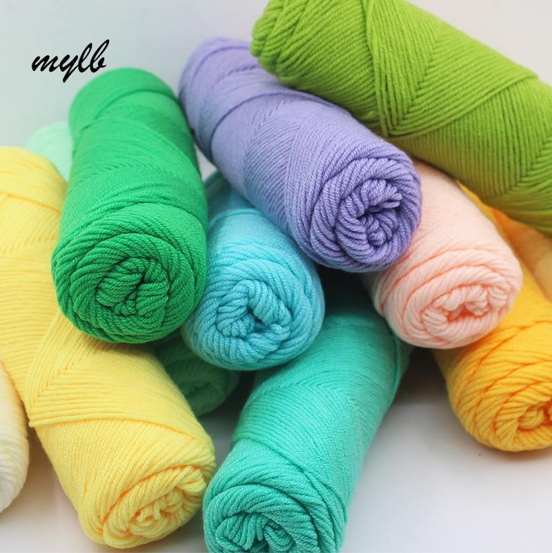Knitting Yarn Aliexpress : Mylb wholesale pcs lot g natural soft silk milk