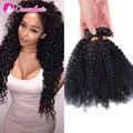 Перуанский Странный Вьющиеся 3 Пучок Наносит 7А Класс 100% Девственницы Человеческих Волос Weave1B Естественный Черный 8-30 Дюймов Полный на складе