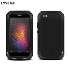 Love Mei Waterproof case for xiaomi m5 case Metal Aluminum phone cases for xiaomi mi5 cover phone bag case