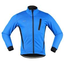 Men Warm Up Fleece Bicycle Cycling Jacket Clothing Thermal Cycling Jacket Windproof Sports Coat MTB Bike