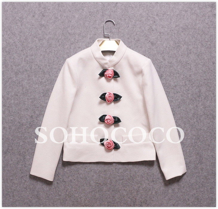 Kurze Verkauf Frauen As Dünner Bürodame Elegante Herbst Blume as Pic Weiß 2017 Kleidung Neue Heißer Pic Jacke Taste Schwarz Ankunft Blazer txwPqqYF