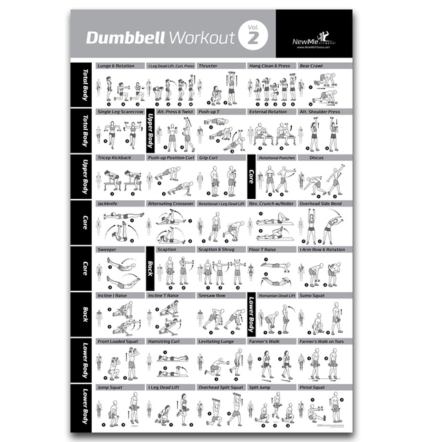 Fx121 Dumbbell Workout Hot Body Home Exercise Gym Pose Chart New Custom Poster Art Silk Light Canvas Room Wall Print Decor