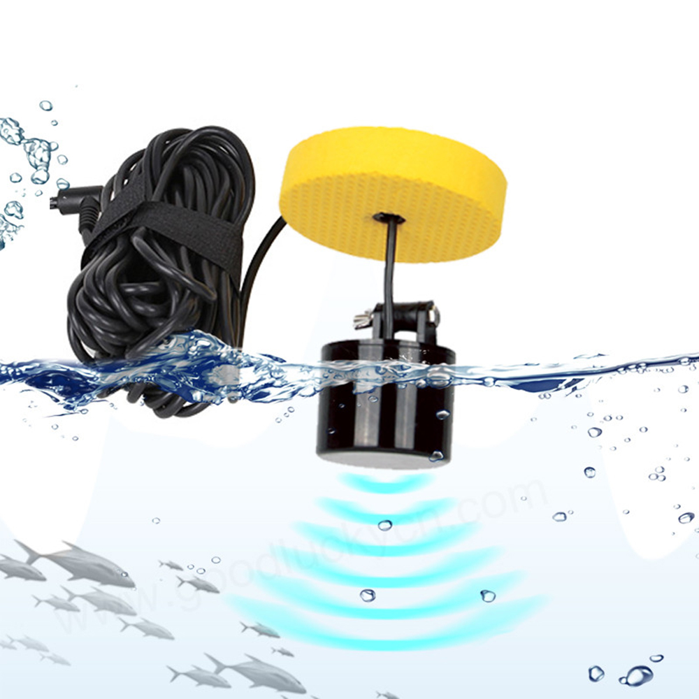 LUCKY Waterproof Portable 100M/300FT Depth Fish Alarm Wired Fish Detector Sounder 2.4' LCD Fish Finder