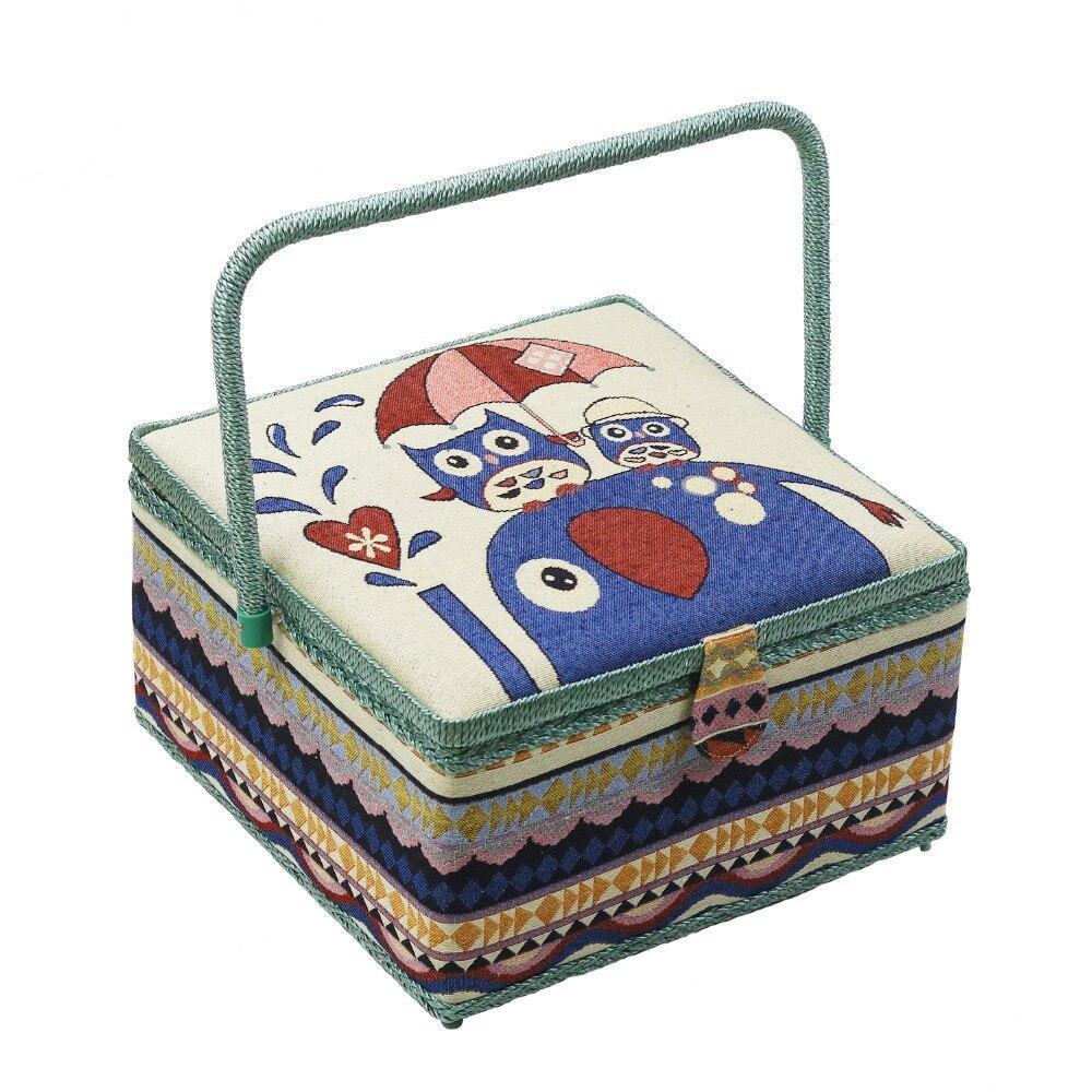 Grands Kits de couture boîte à couture tissu couture rangement panier point aiguille fil couture outils boîte de rangement panier maman cadeaux
