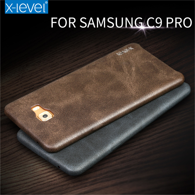 cheap for discount 0733b 72272 US $9.99 |X Level For Samsung Galaxy C9 Pro Case Retro Luxury PU Leather  Back Cover Slim Fundas For Samsung C9 Pro Phone Cases-in Fitted Cases from  ...