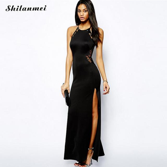 2018 Summer Women Criss Side Lace Dress Round Neck Casual slim Vestidos Black Strapless Celebrity Party Bandage dress