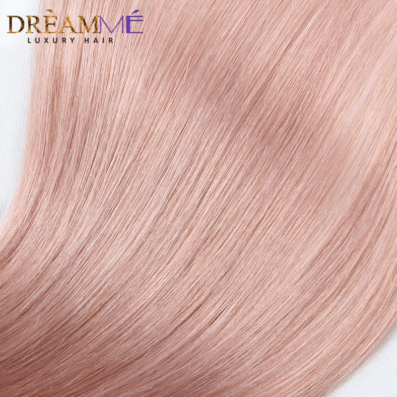 Dreaming Queen Hair Solid Pink Ombre Brasilian Straight Human Hair - Menneskehår (sort) - Foto 5