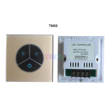 Hot sell TM05 Touch Panel  LED Dimmer 3 Buttons led controller for 3528 5050 Single Color Strip DC 12V-24V 8A
