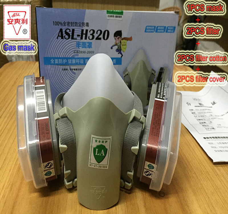 ASL-H320 respirator gas mask high quality Silica gel protective mask against Spray paint pesticide spray Dust gas filter mask all in one